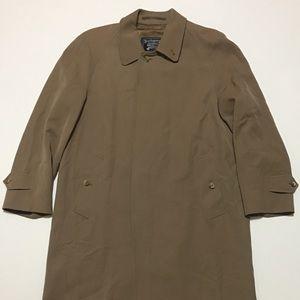 MEN'S VTG BURBERRY Wool Burella Trench Coat 46Reg